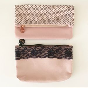 Set of 2 Ipsy Pink Glam Bags